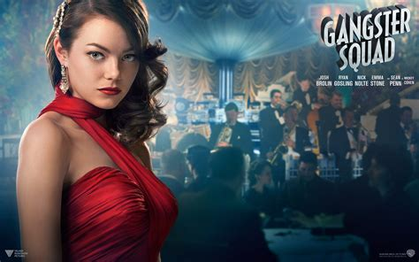 gangster movie wallpaper emma stone in gangster squad wallpapers hd wallpapers