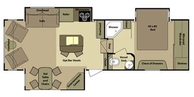open range 5th wheel floor plans 2011 open range rv roamer fifth wheel series m 316rls