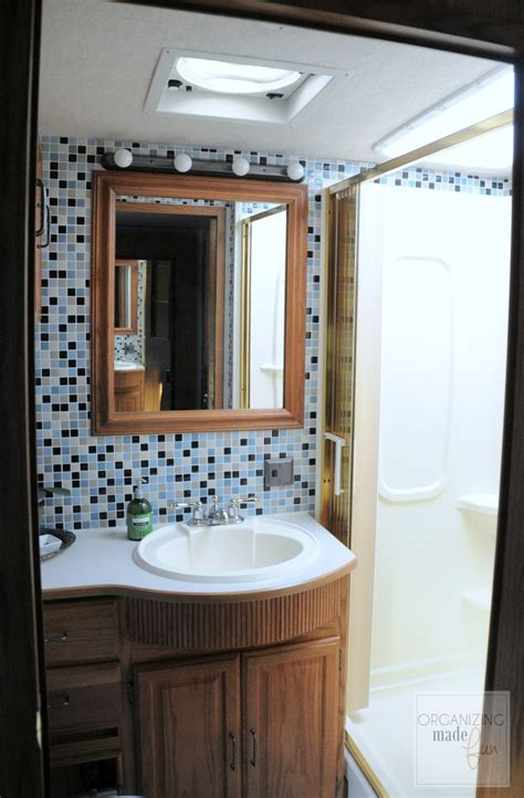 Rv With Bathroom by Hometalk Rv Motorhome Bathroom Makeover