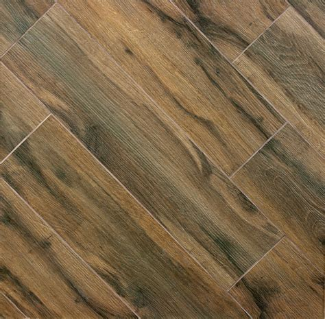Porcelain Plank Tile Flooring by Botanica Cashew Wood Plank Porcelain Modern Wall And