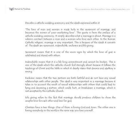 Wedding Ceremony You Attended by Describe A Wedding Ceremony You Attended Essay