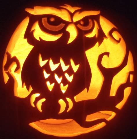 pumpkin carvings patterns owl pumpkin carving stencils