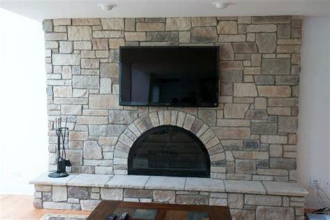brick fireplace to veneer transformation