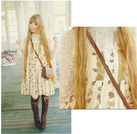 Baju Dress Axes Femme Japan emilka p axes femme dress brown and antique white