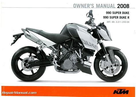 Ktm Manual 2008 Ktm 990 Superduke Motorcycle Owners Manual Paper