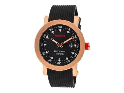 Ac 8512 Rosegold Black black gold with black silicone band