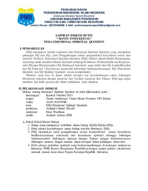 format laporan forum contoh laporan hasil diskusi