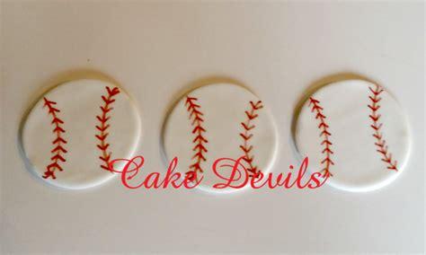 Baseball Cake Decorations by Fondant Baseball Cupcake Toppers Baseball Cake