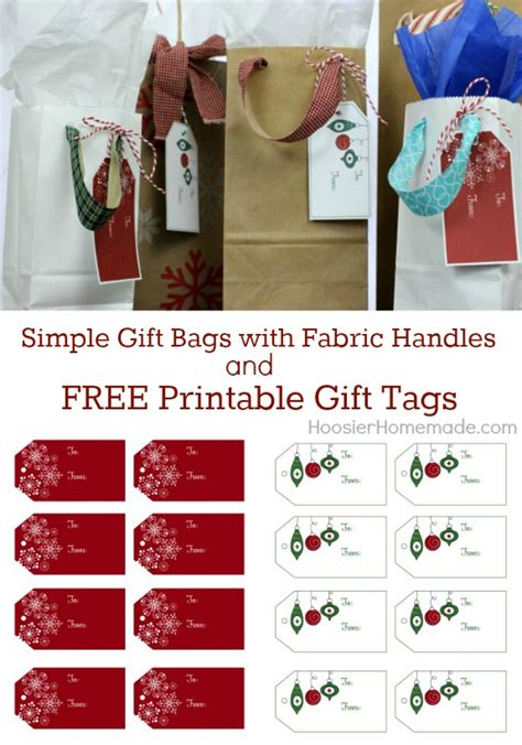 printable christmas bag tags simple gift bags and printable gift tags hoosier homemade