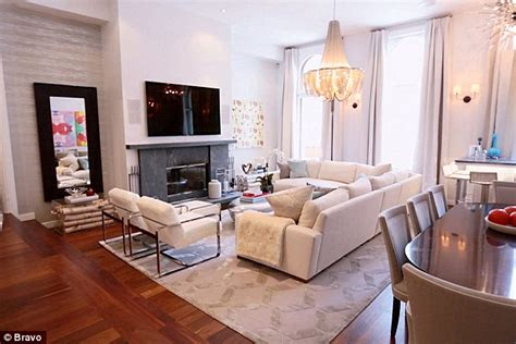 Masculine Living Room Decor bethenny frankel gives tour of newly renovated soho