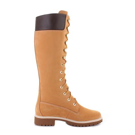 womens timberland 14 inch premium wheat lace up leather