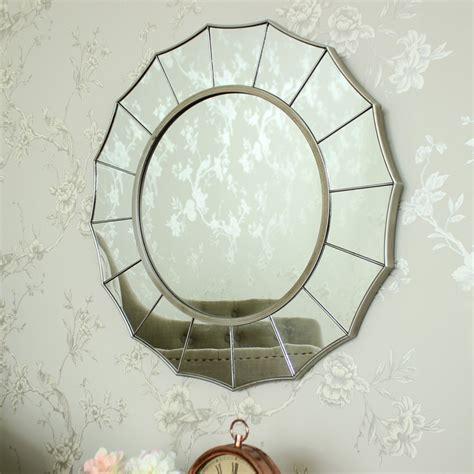 Artistic Bathroom Wall Mirrors Silver Sunburst Deco Wall Mirror Shabby Ornate Chic