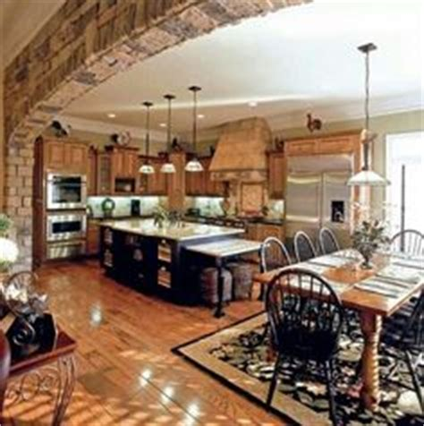 rustic living room kitchen open floor plans shabby chic rustic living room rustic open floor 1000 images about kitchen great room combo on pinterest