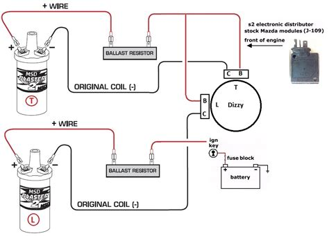 ignition coil ballast resistor wiring diagram dejual