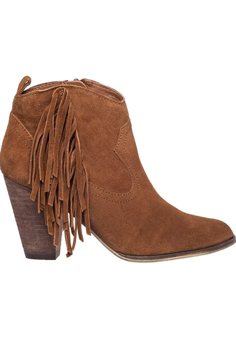 steve madden fringe boots steve madden ohio suede fringed boots in brown lyst