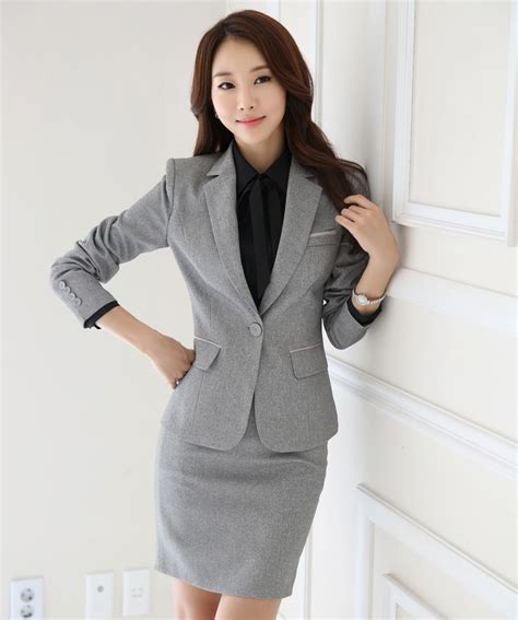 styles for working suits novelty grey formal ol styles professional business women