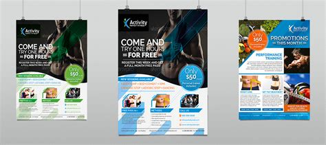 Fitness Amp Gym Sports Business Flyer Hollymolly