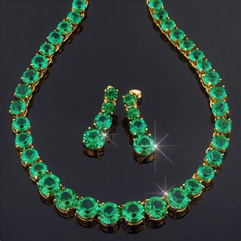 cut tennis 18k yellow gold plated gemstone jewelry