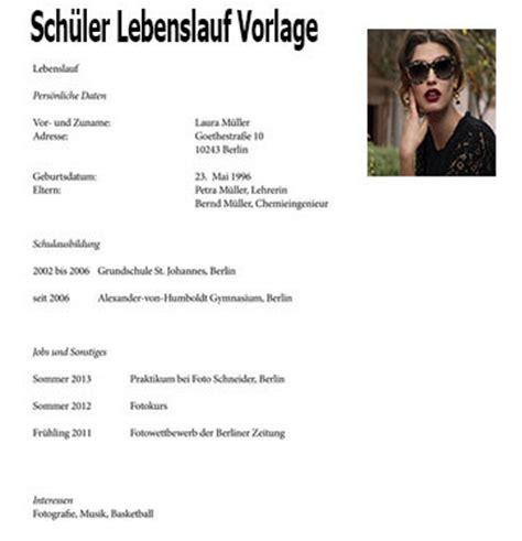 Lebenslauf Schuler Schweiz Sch 252 Ler Lebenslauf Vorlage Dokument Blogs