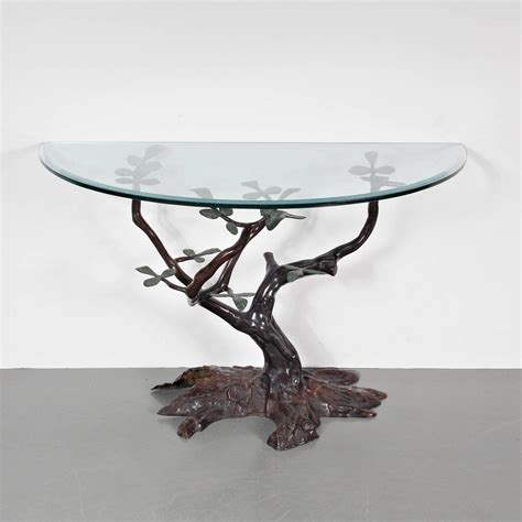 bonsai coffee table bonsai console table in the style of willy daro for sale