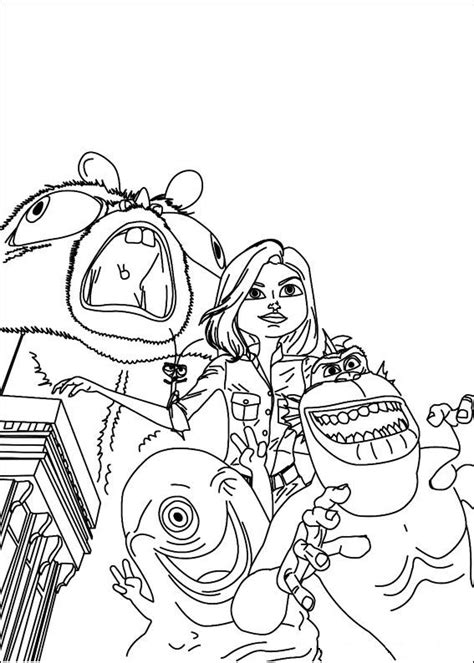 coloring pages of monsters vs aliens kids n fun com 21 coloring pages of monsters vs aliens