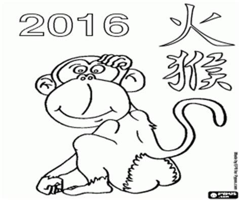 coloring page year of the monkey other celebrations holidays and traditions coloring pages