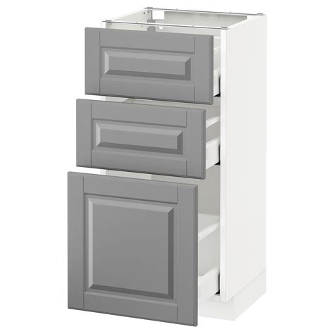 Ikea Kitchen Bodbyn Base Cabinet With 3 Drawers 1 | metod maximera base cabinet with 3 drawers white bodbyn