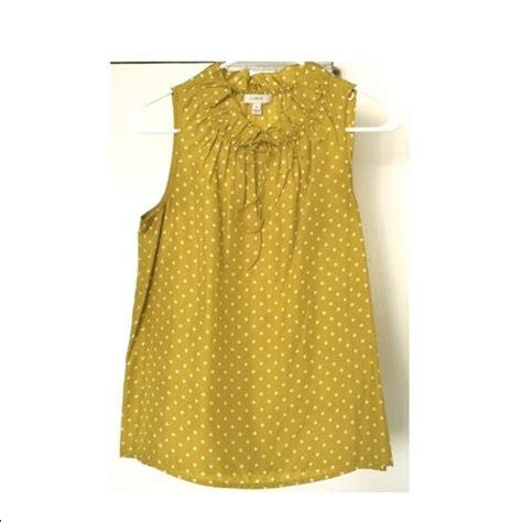 Atasan Import Ruffle Polkadot 57 j crew tops j crew polka dot ruffle blouse lime silk 0 nwt from m s closet on poshmark