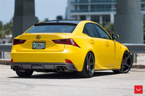 yellow lexus lfa yellow lexus is 350 sits on vossen wheels autoevolution