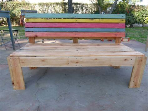 outdoor pallet bench pallet outdoor bench with a comfort back