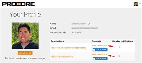 printable version of linkedin profile download your procore certified certificate procore