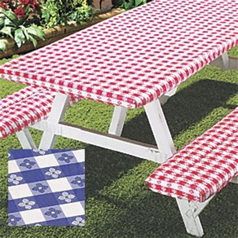 picnic tablecloth and bench covers deluxe picnic table flannel backed table and bench covers