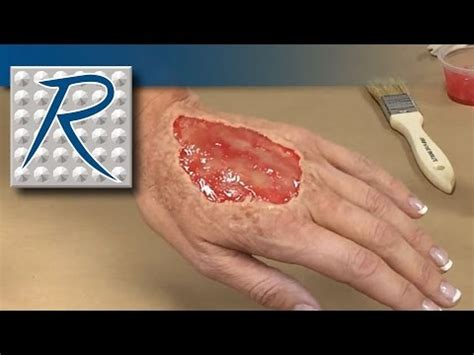 wound tutorial without latex special effects makeup tutorial hand wound made using