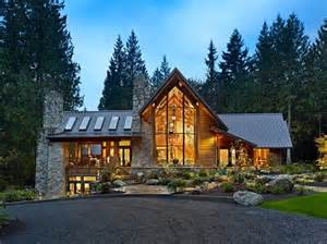 modern log cabin homes cedar is a forest retreat made with reclaimed logs
