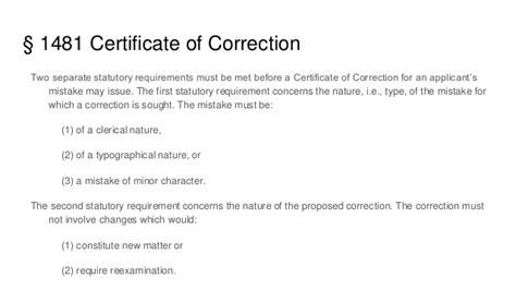 design patent certificate of correction patent bar outline