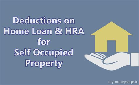 tax deduction for housing loan tax deductions on home loan hra for self occupied house property mymoneysage blog