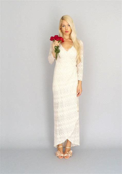 Alison Kellys Dahl by Dahl Nyc By Alison Bohemian Wedding Wrap Gown