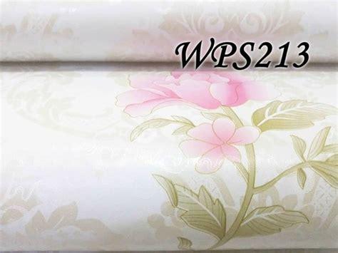 jual wps white  mediun pink flower wallpaper dinding
