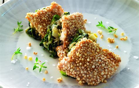 ricette di cucina quinoa ricetta trota alla quinoa la cucina italiana