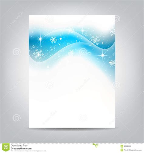design background leaflet christmas flyer with stars and snowflakes on a white