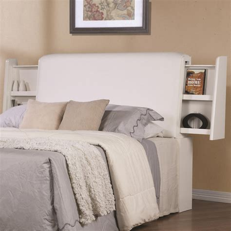 white wood california king size headboard a sofa