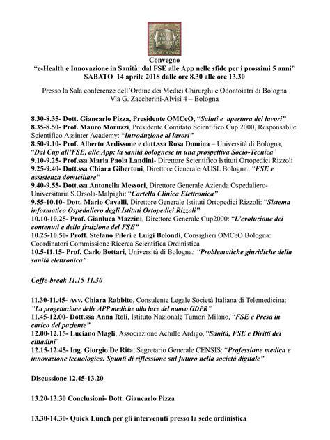 libreria bonomo bologna sabato 14 aprile ehealth e innovazione sanit 224 all ordine