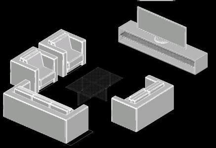 sofa  tv stand  dwg model  autocad designs cad