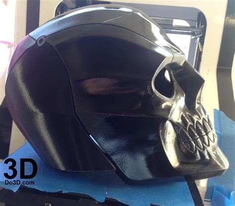 printable model black mask arkham knight helmet
