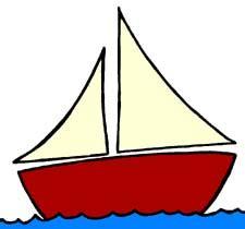 cartoon sailboat on water cartoon sail boat clipart best