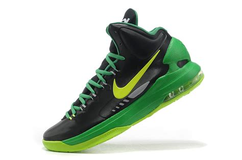 nike basketball shoes durant 5 black green outlet