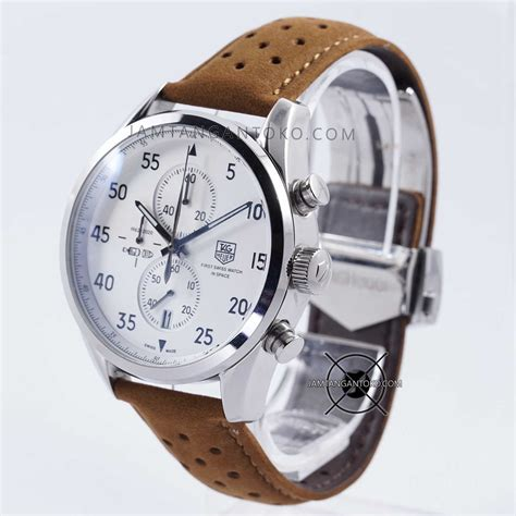 Jam Tangan Tag Heuer Swiss In Space harga sarap jam tangan tag heuer spacex cal 1887 silver brown