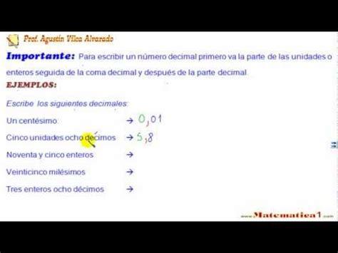 como se lee una c 243 mo se escribe y se lee los n 250 meros decimales youtube