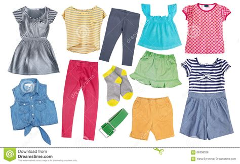 child cotton bright summer clothes set collage