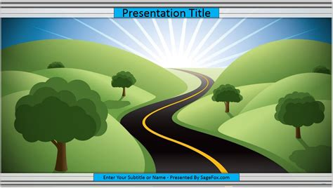 free cartoon road powerpoint template 9935 sagefox